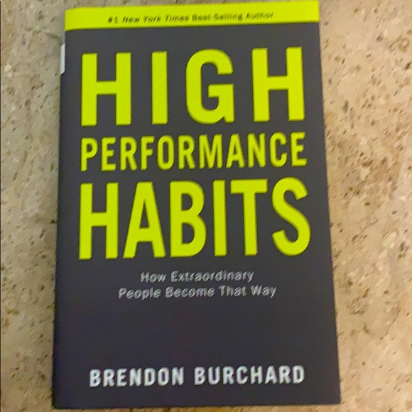 Hardcover book- High Performance Habits